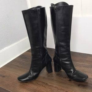 Banana Republic Black Tall Zip-Up Boots Size 8